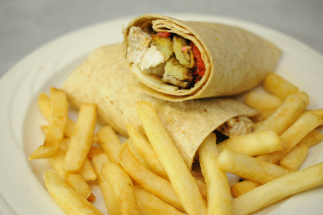 Tuscan Chicken Wrap