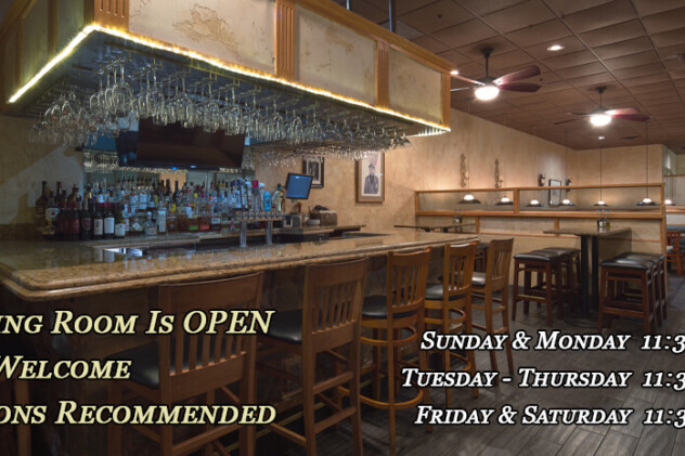 WE ARE OPEN EVERY DAY!